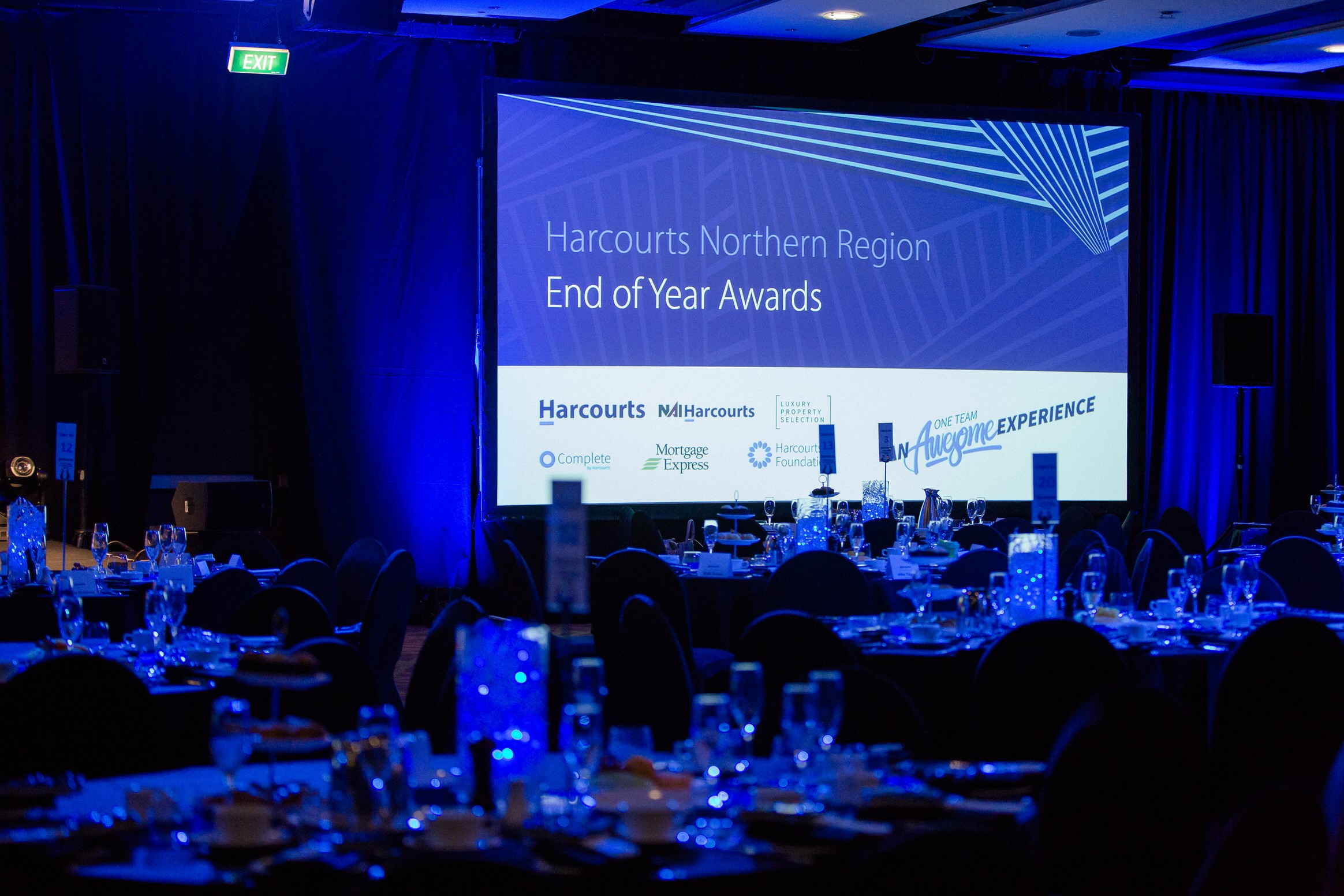 corporate, event, gala, dinner, awards, night, harcourts, auckland